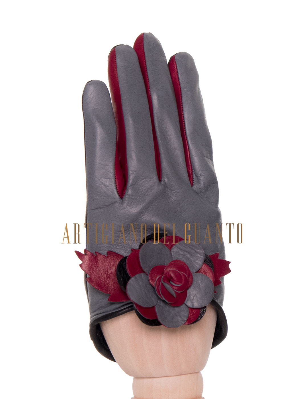 guanto con guarnizione di rosa Amber Queen