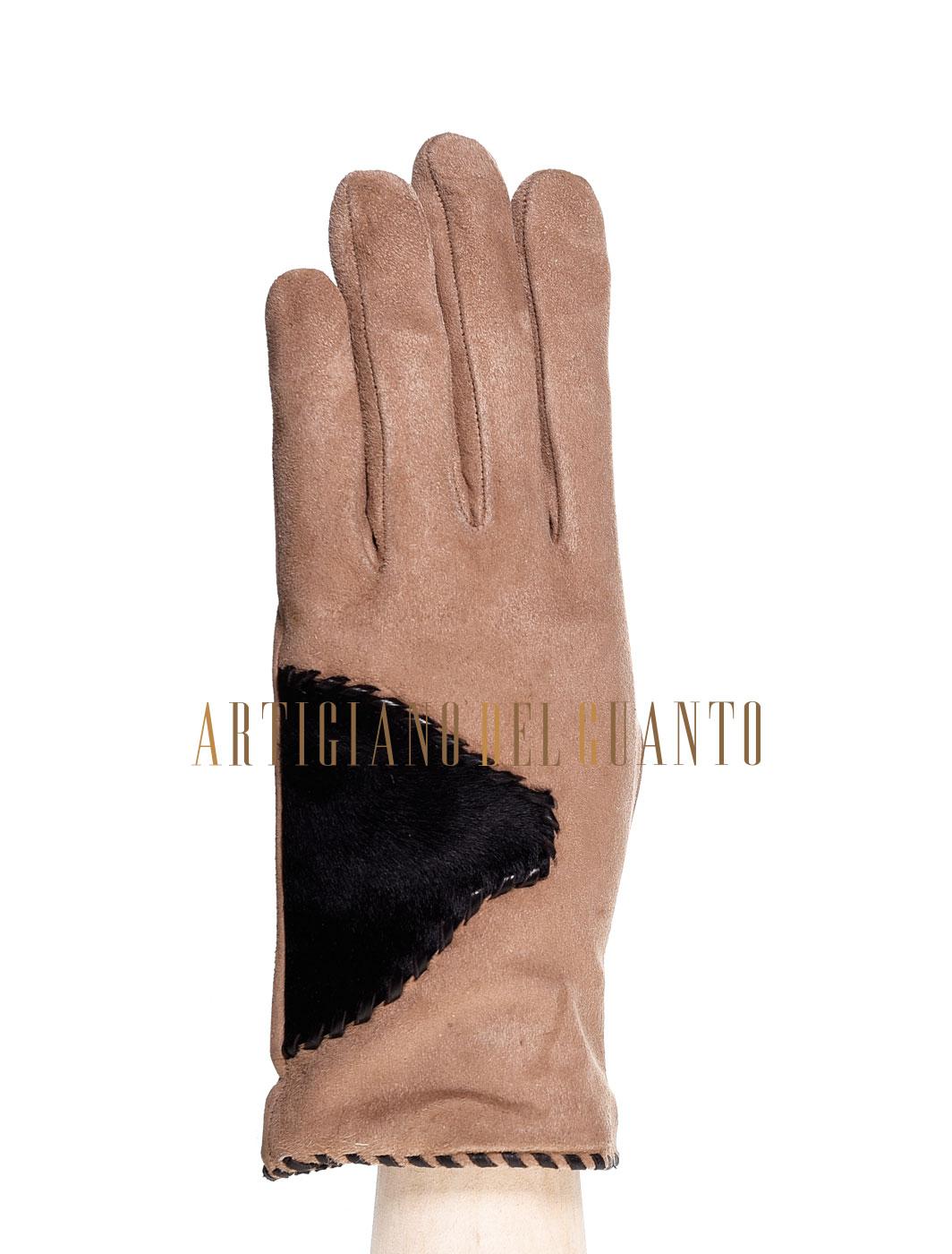 guanto in pelle di Agnello e Vitello